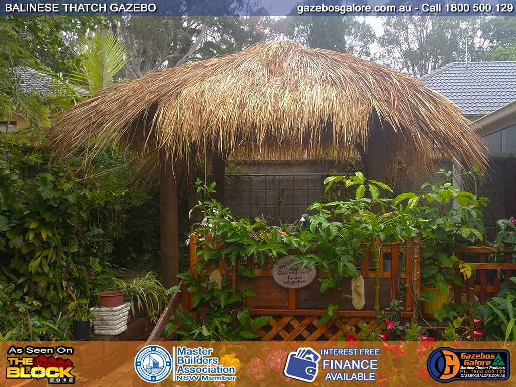 Balinese Thatch Gazebo